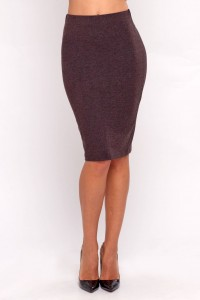 Pencil skirt brown melange