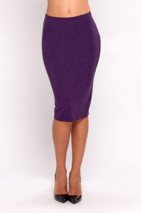 Pencil skirt purple melange