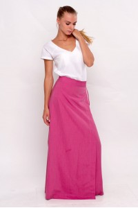 wraparound skirt pink