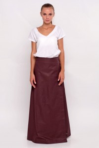 wraparound skirt brown