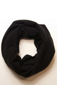 Шарф-снуд чорний, зимовий