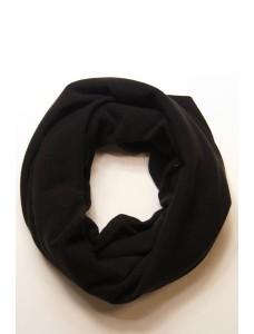 Шарф-снуд черный, зимний