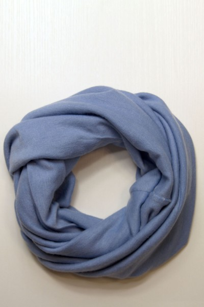 Scarf snood blue winter