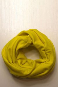 Шарф-снуд жовтий, зимовий