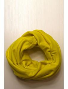 Шарф-снуд желтый, зимний