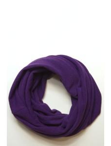 Шарф-снуд фиолетовый, зимний