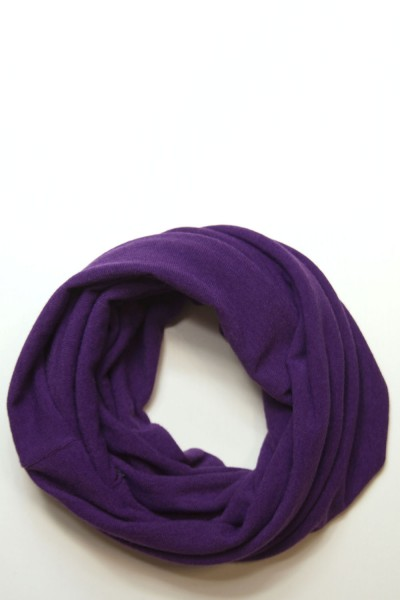 Scarf snood purple winter
