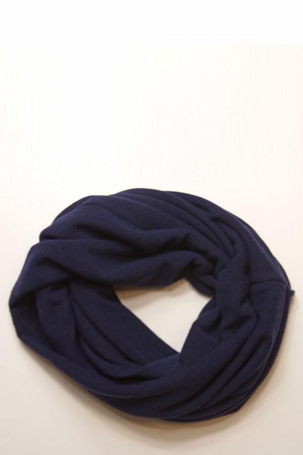 Шарф-снуд синий, зимний