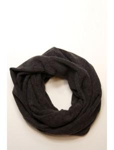 Шарф-снуд темно-серый, зимний