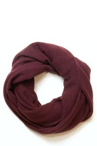 Scarf snood burgundy winter