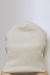 Winter milky beanie hat