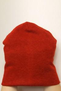 Winter red beanie hat