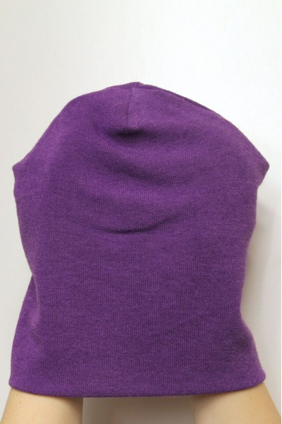 Winter purple beanie hat