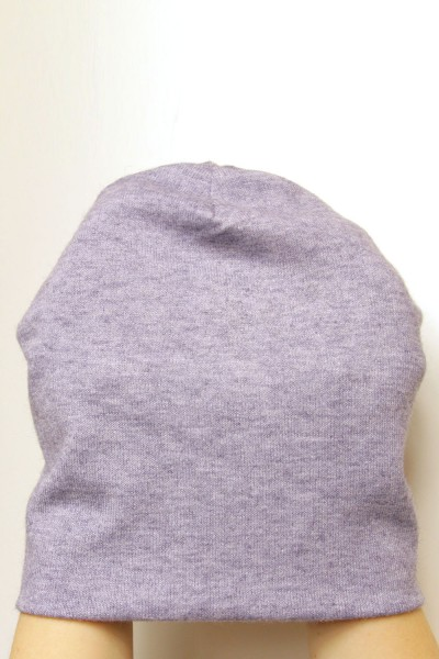 Winter  gray-blue beanie hat