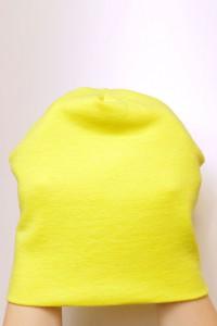 Winter yellow beanie hat