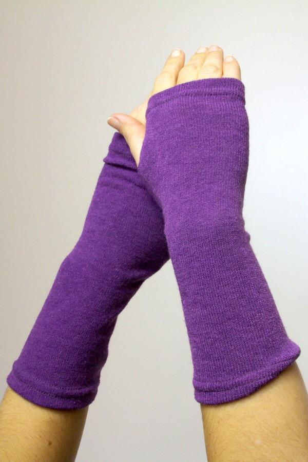 Митенки фиолетовые