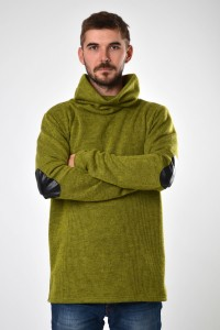 Sweater unisex light green