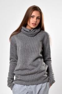 Sweater unisex light grey
