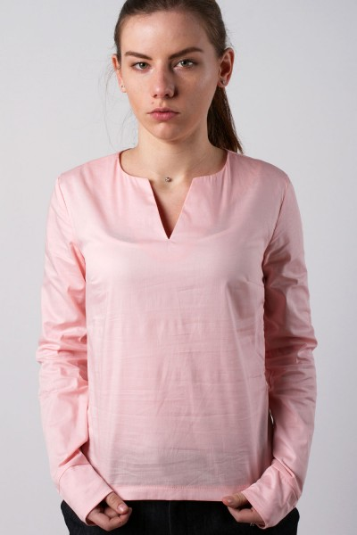 V-notch blouse, pink