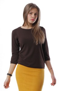 jumper with buttons, brown