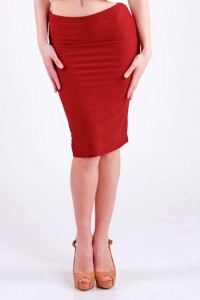 Pencil skirt (burgundy)