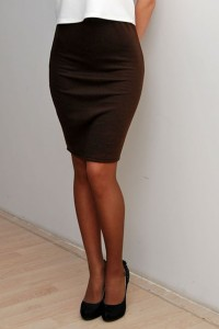 pencil skirt brown
