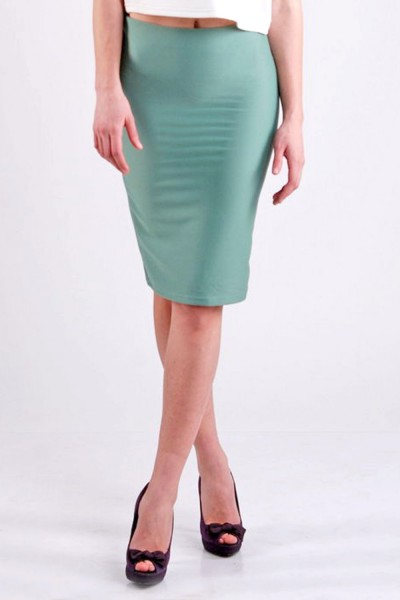 Pencil skirt (green apple)