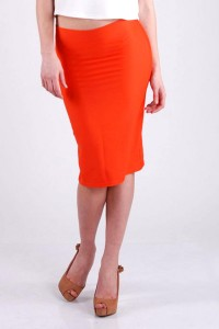 Pencil skirt orange